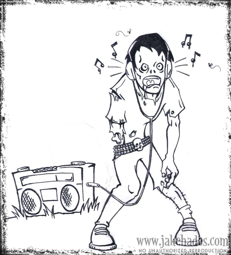 Boombox zombie