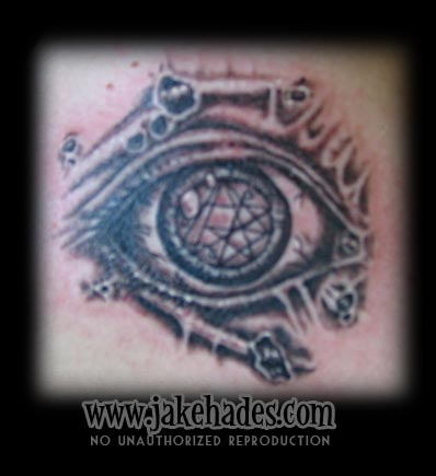 Necronomicon eye tattoo