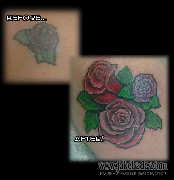 Rework roses over reworked rose