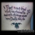 Lovecraft phrase tattoo